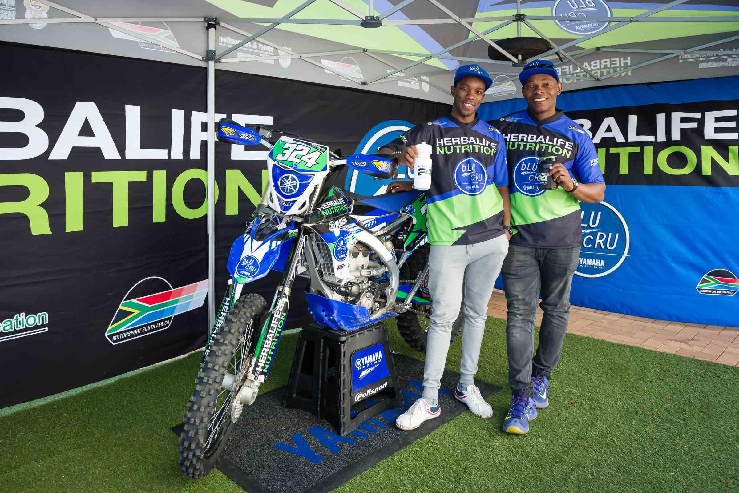 Thabang Katees & Piwe Zulu of the Herbalife Nutrition bLU cRU Yamaha Team_edit