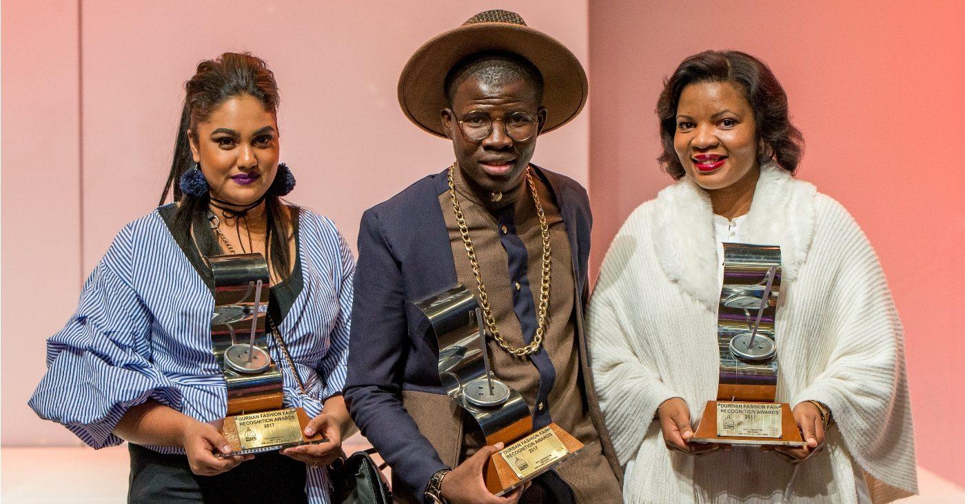 DFF Rising Stars Winners - Leonie Pillay, Athenkoisi Mfungula and Claudia Novuka