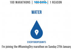 #RunningDry is now a global movement seeking to raise awareness for the world's water crisis!