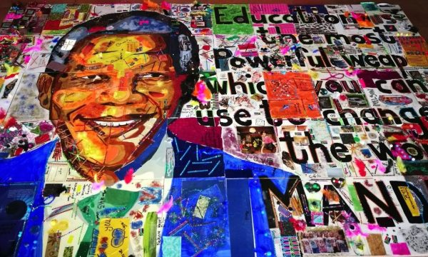 Kouga kids make art for Mandela Day
