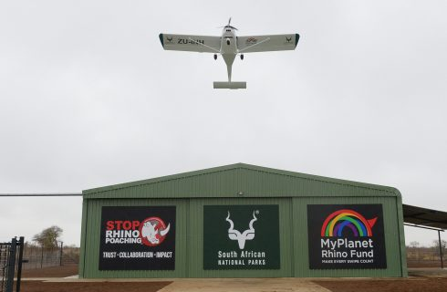 SANPARKS GETS NEW AIRCRAFT THANKS TO  MYPLANET RHINO FUND