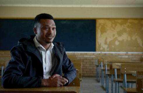 EMSS Graduate inspires a new generation of learners with his story.