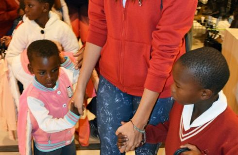 Edgars spoils underprivileged kids with brand new clothes