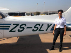young black female pilot