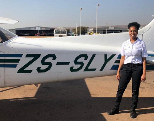 young black female pilot